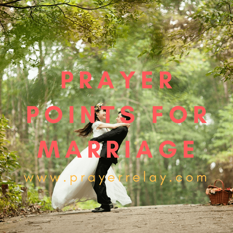 Prayer Points for Marriage prayer
