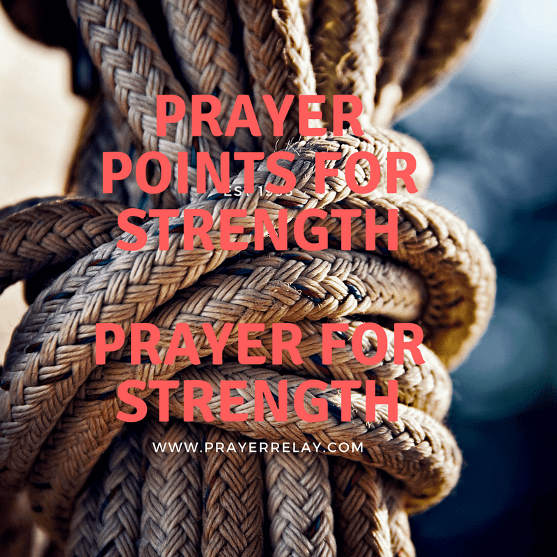 186 bold Prayer for Strength Points with Bible Verses - The