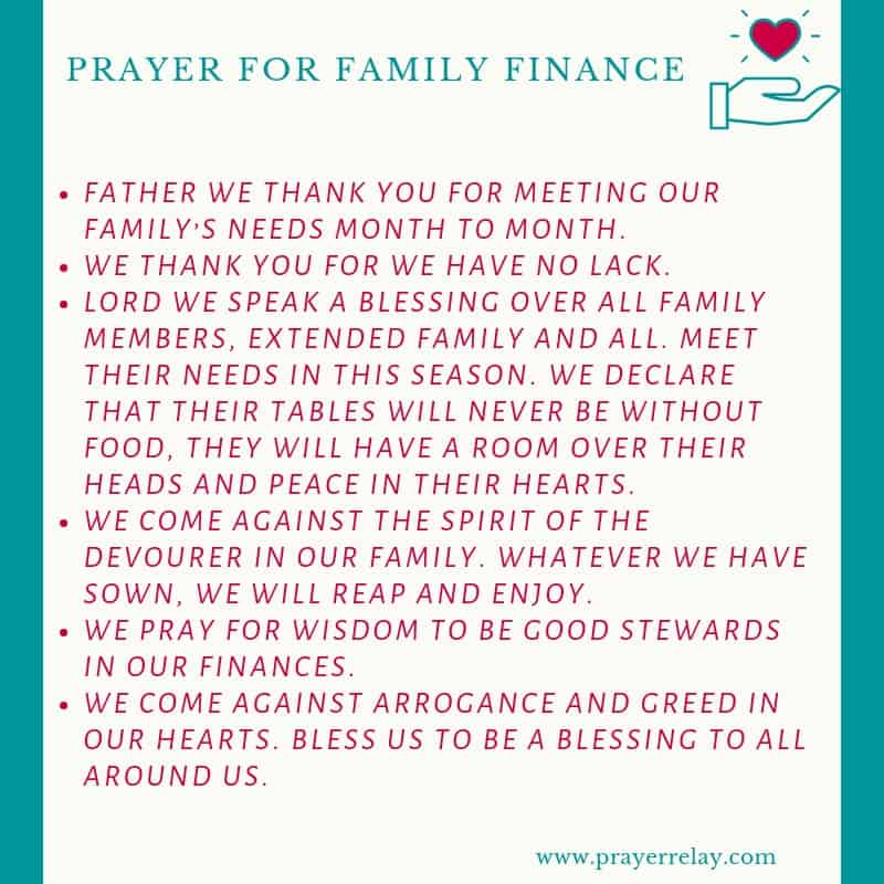 PRAYER FOR FAMILY FINANCE