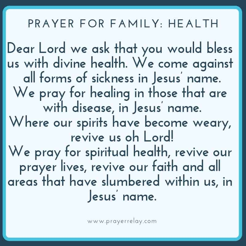 PRAYER FOR FAMILY_ HEALTH