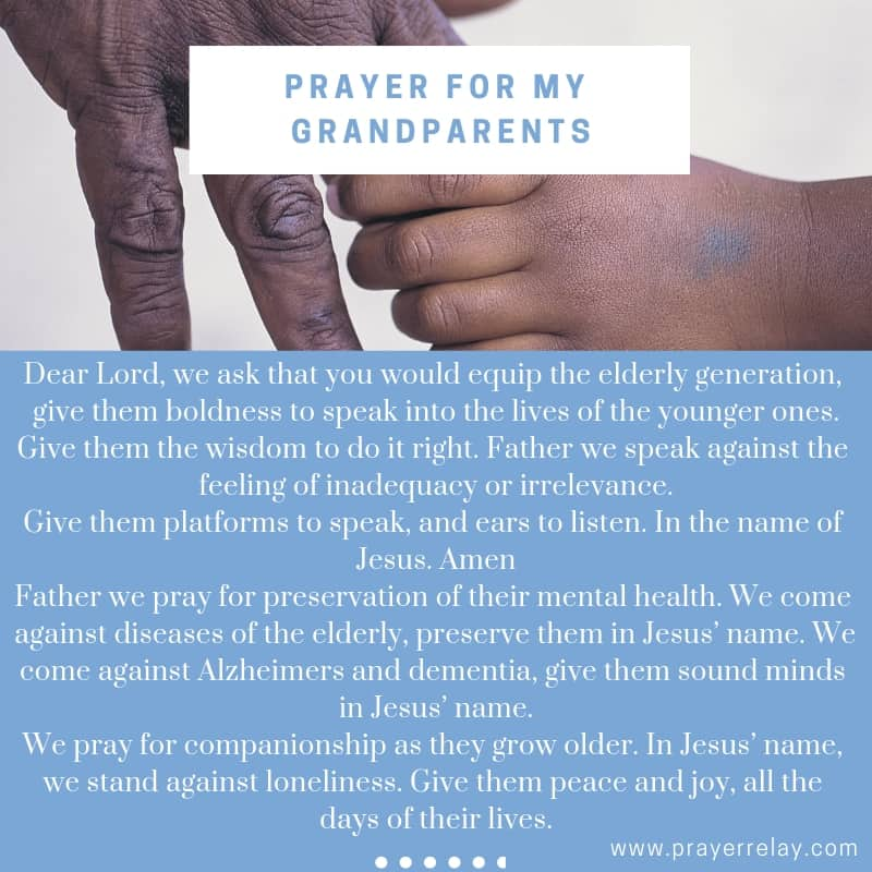 PRAYER FOR MY GRANDPARENTS: Family prayer
