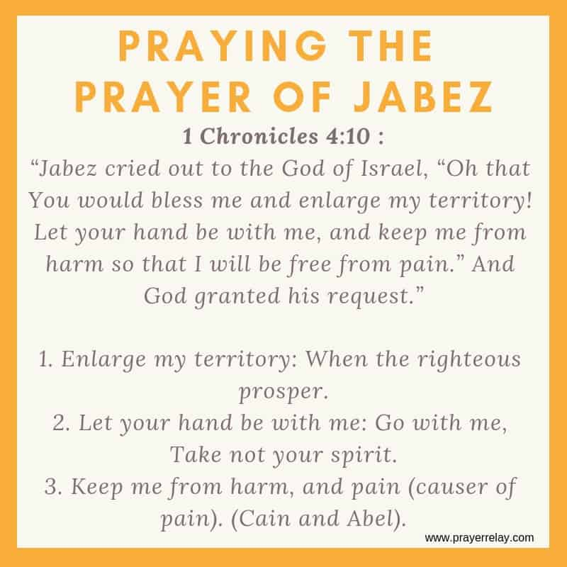 PRAYING THE PRAYER OF JABEZ