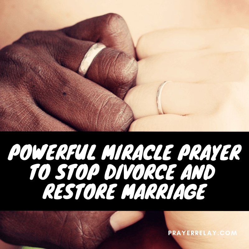 Powerful Miracle Prayer to Stop Divorce and Restore Marriage - The