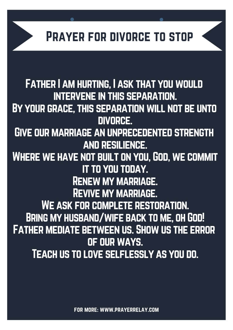 Prayer for divorce to stop: Miracle Prayer to Stop Divorce