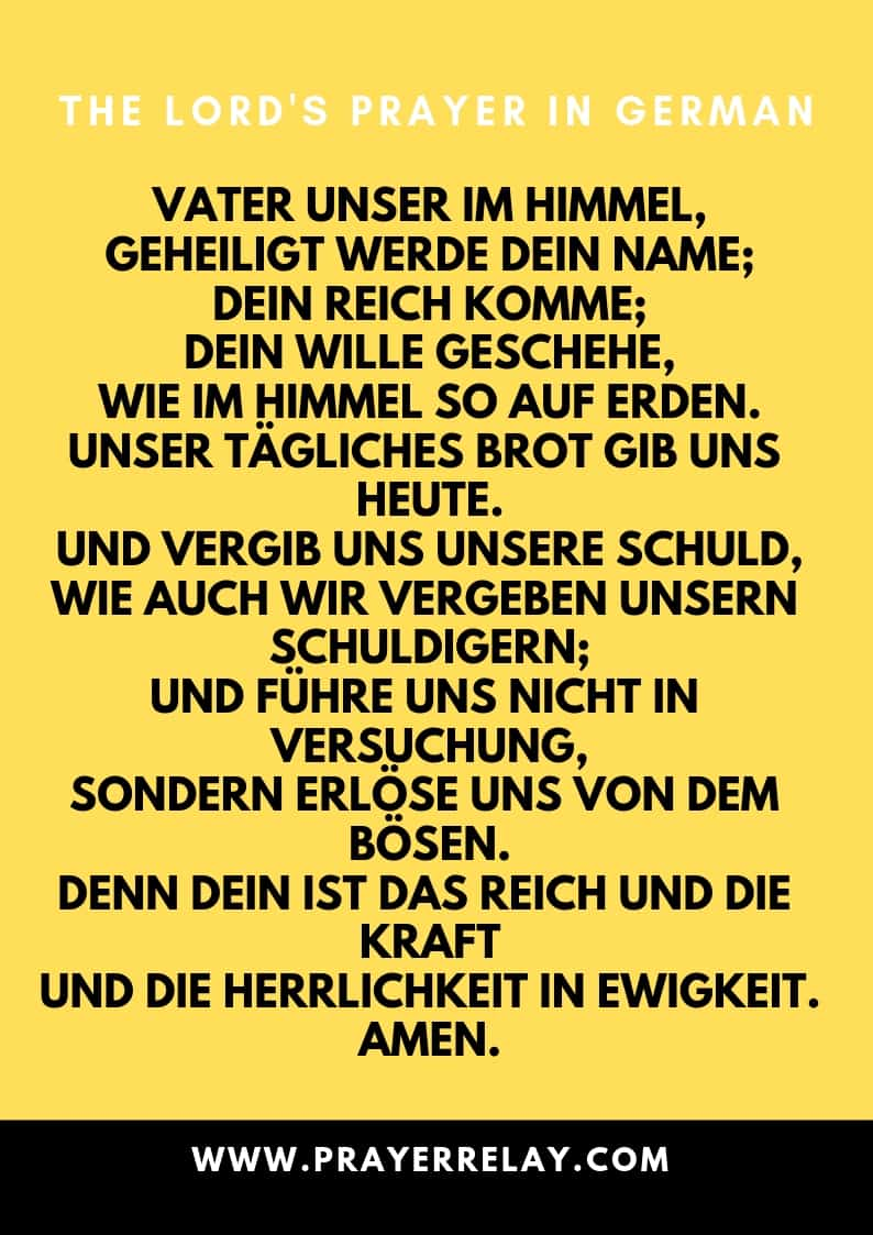 THE LORD'S PRAYER IN German