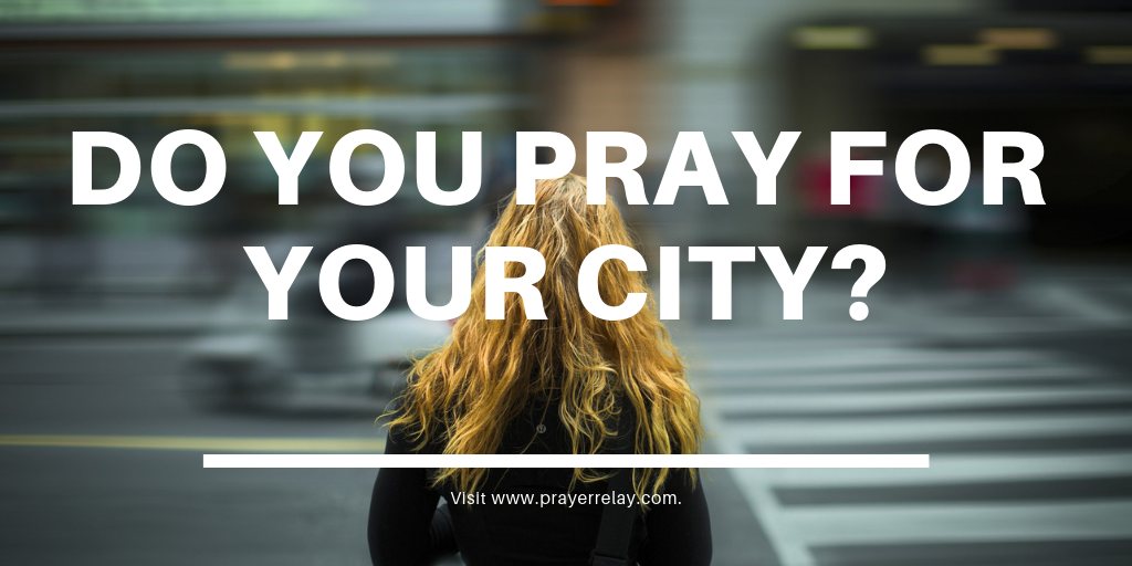Do you pray for your city? banner