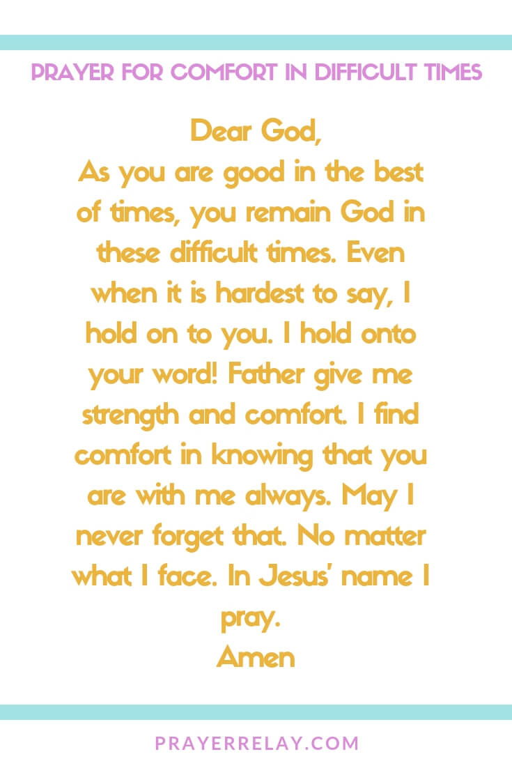 Powerful Prayer for Comfort with 38+ Bible Verses about