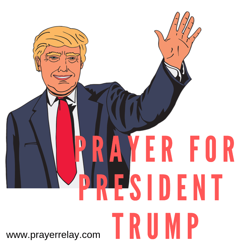 Prayer for President Trump poster