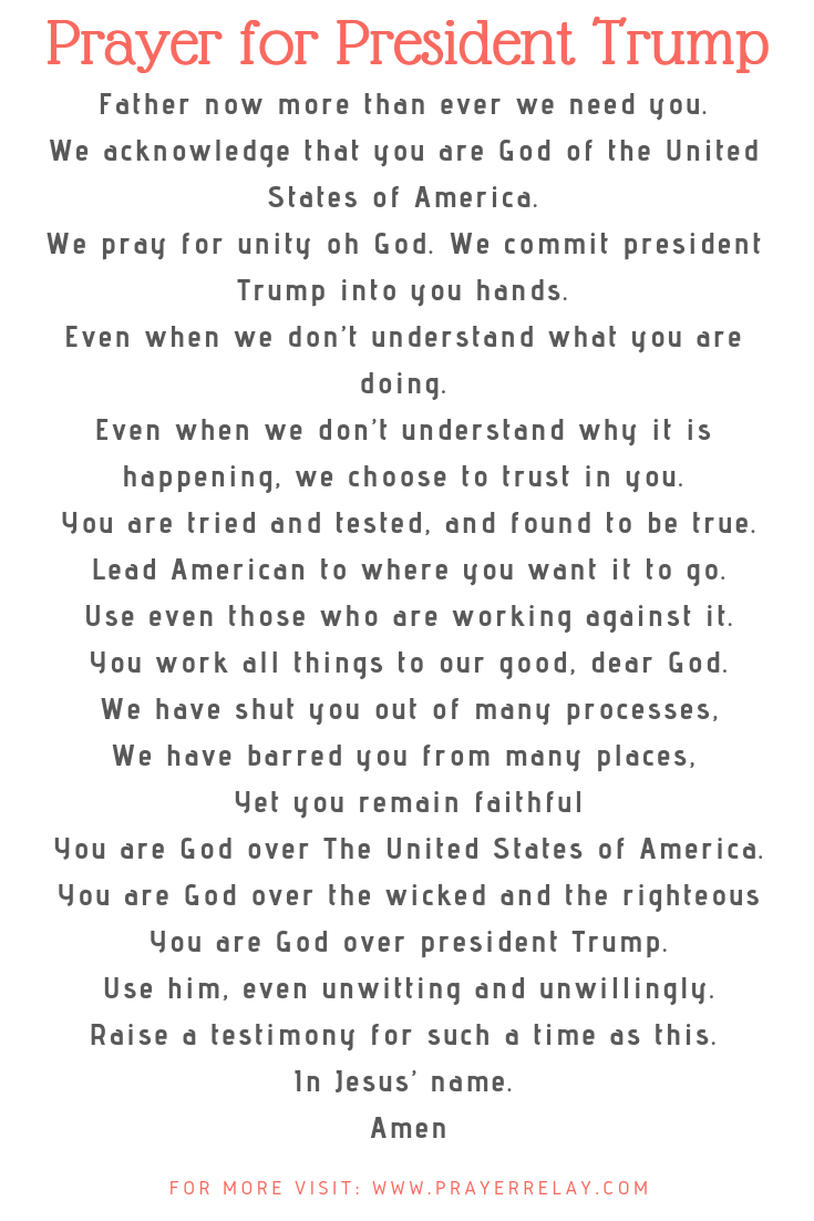 Prayer for President Trump