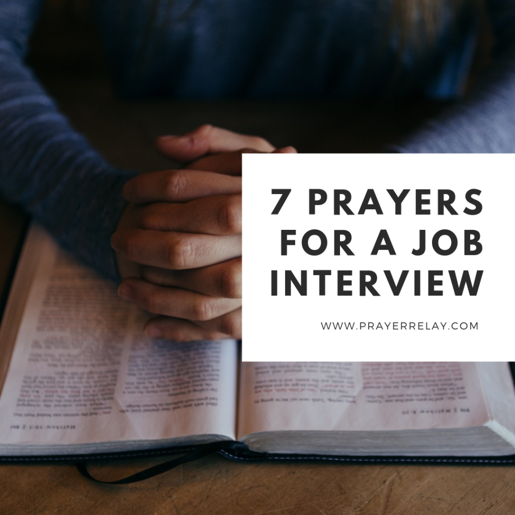 7 Prayer For A Job Interview